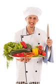Cook with assortment fresh vegetables — Stockfoto