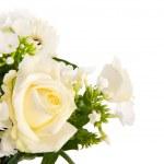 karışık buket beyaz çiçekler — Stok fotoğraf