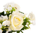 Mixed bouquet white flowers — Stock Photo