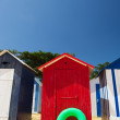Beach huts on island Oleron in France — Stock Photo