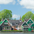 Row houses in typical Dutch village — Stock Photo