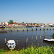 Dutch small harbor place — Stock Photo