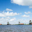 Windmills at Dutch Zaanse Schans — Stock Photo #28715575