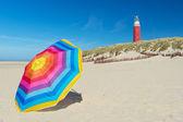 Lighthouse on Dutch wadden island Texel — Stock Photo