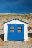 Blue beach hut — Stock Photo