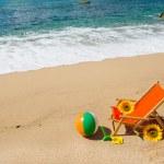 Empty beach chair — Stock Photo