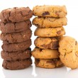 Stock Photo: Chocolate and vanillia cookies
