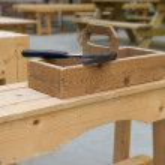 Wooden toolkit at school — Stock Photo #31742353