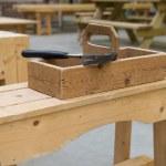 Wooden toolkit at school — Stock Photo