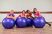 Girls at health club — Stock Photo