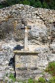 Pilgrimage cross in Rocamadour — Stok fotoğraf