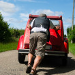 Car breakdown in France — Stock Photo #34573005