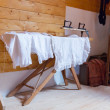 Ironing antique underwear — Stock Photo