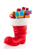 Christmas boot with presents — Stock Photo