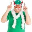 Funny dressed for Christmas — Stock Photo #35447125