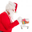 Santa Claus with little shopping cart — Stock Photo #35447133