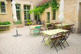 French terrace — Stock Photo