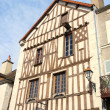 Half-timbered house in French Noyers — Foto de Stock