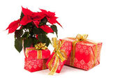 Red luxury Christmas gifts — Stock Photo