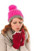 Woman portrait winter fashion — Stock fotografie