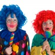 Stock Photo: Little clowns