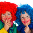 Clowns children — Stock Photo