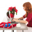 Christmas at the office — Stock Photo