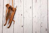 Vintage wooden skates — Stock Photo