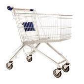 Metal shopping cart — Stock Photo