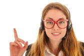 Customer support on the phone — Stock Photo