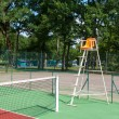 Outdoor tennis court — Stock Photo