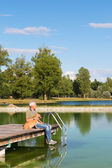Lake in France — Stock Photo