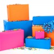 Gifts in many colors — Stock Photo #41951491