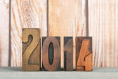 2014 in vintage letters — Stock Photo