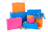 Gifts in many colors — Stock Photo