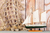 Miniature sailboat — Foto de Stock