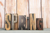 Spring in print letters — Stock Photo