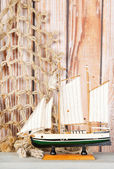 Miniature sailboat — Stock fotografie