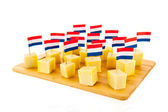 Dutch cheese cubes — Foto Stock