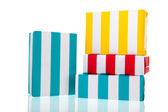 Striped presents — Stock Photo
