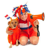 Dutch soccer supporters — Stock Photo