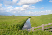 Landscape with dike — Stock Photo