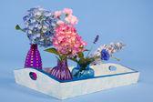 Tray flowers — Stock Photo