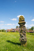 Grave yard at Dutch Terschelling — Foto Stock