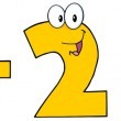 Yellow Number 1 Plus Number 2 — Stock Photo