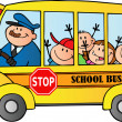 School Bus With Happy Children — Stock Photo #12492414