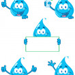 Water Drop Characters — Stock Photo