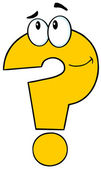 Yellow Question Mark Character — Stock fotografie