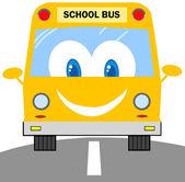 School Bus Cartoon Character — Stock Photo