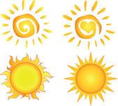 Různé slunce — Stock fotografie